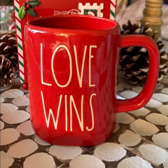 💥SALE! Rae Dunn 'Love Wins' Mug